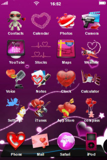 Pink Valentine Day IPhone Theme Mobile Theme
