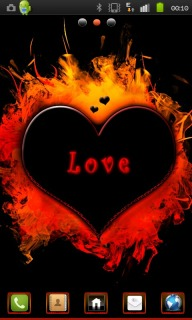 Heart On Fire Android Theme Mobile Theme