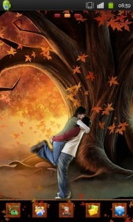 Download Couple Love In Autumn Android Theme HTC Theme | Mobile Toones