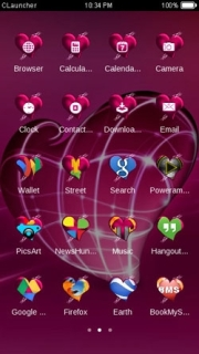 Pink Heart Love & ICons Android Theme Mobile Theme