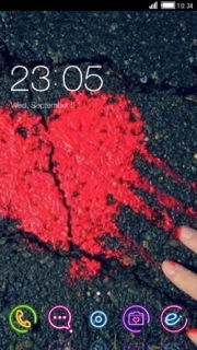 Blood Red Heart My Love Android Theme Mobile Theme