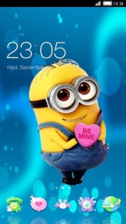 Minions Love Be Mine Heart Android Theme Mobile Theme