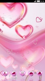 Pink Hot Sweet Love Android Theme Mobile Theme
