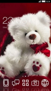 Teddy Love Heart Android Theme Mobile Theme