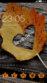 Love You Leaf Heart Android Theme Mobile Theme
