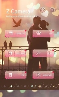 Love Couple Z Camera Android Theme Mobile Theme