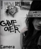 Game Over Mobile Theme