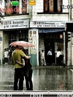 Kiss In The Rain Mobile Theme