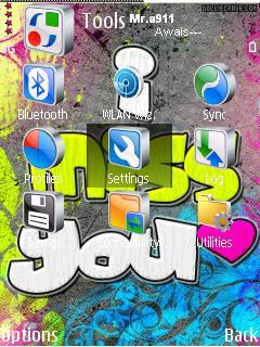 Miss You My Love Mobile Theme
