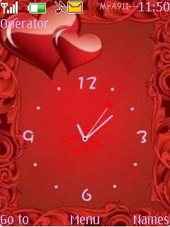 Love Clock Mobile Theme