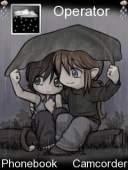 Lovers In Rain Mobile Theme