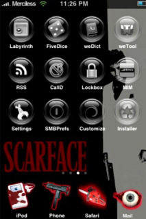 Scarface IPhone Theme Mobile Theme