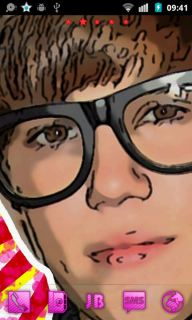 Justin Bieber Glasses Android Theme Mobile Theme