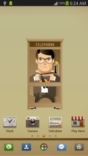Superman On Office For Android Theme Mobile Theme