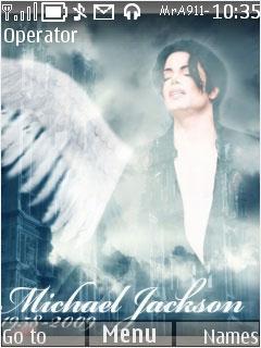 Tribute To Michael Jackson Mobile Theme