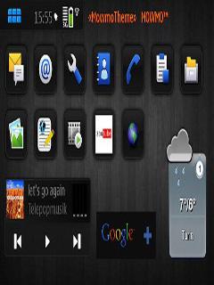 Dark Nokia Maemo Theme Mobile Theme