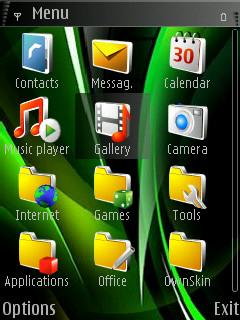 Green Vista Mobile Theme