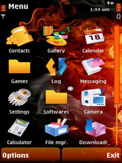 Fire Touch Mobile Theme