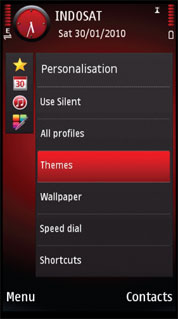 Red Color S60 V5 Theme Mobile Theme