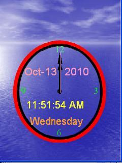 Clock With Ringtone Mobile Theme