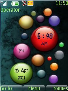Color Bubbles Mobile Theme