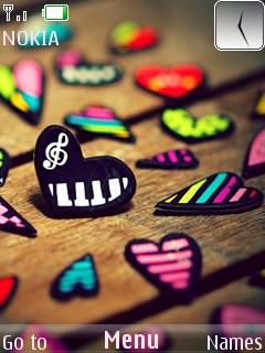 Hearts Mobile Theme