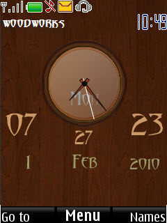 Wooden Clock Mobile Theme