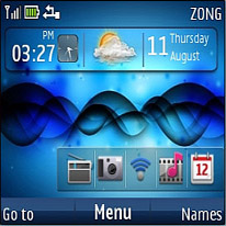 Sound Waves Mobile Theme