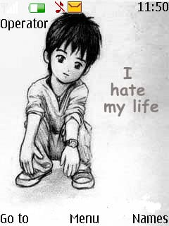 I Hate My Life Mobile Theme