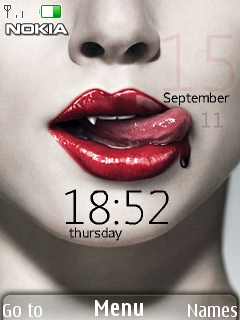Vampire Clock Mobile Theme