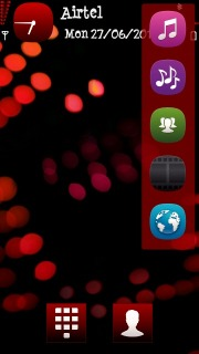 Red Neon Lights Mobile Theme
