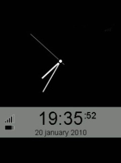 Animated Black Clock Mobile Theme