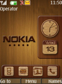 Wood Clock Mobile Theme