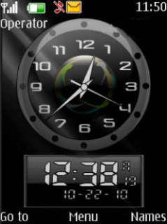 Dual Clock Mobile Theme