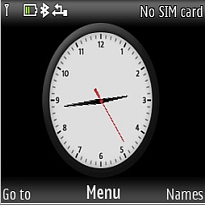 Big Analog Clock Mobile Theme