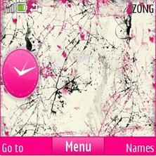 White Pinky Mobile Theme