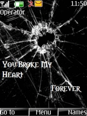 Broken My Heart Mobile Theme