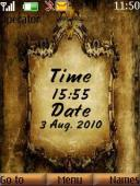 Old Clock And Date Mobile Theme
