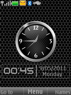 Black Holes Clock Mobile Theme