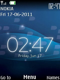 Black Berry Blue Mobile Theme