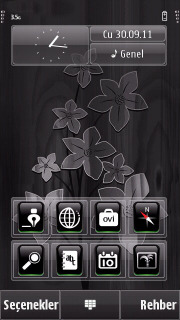 Black Flower Mobile Theme