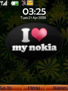 I Love My Nokia Mobile Theme