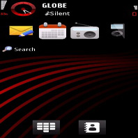 Red Haze Mobile Theme