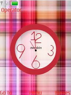 Swf Colors Clock Mobile Theme