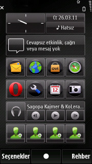 Black Circle Mobile Theme