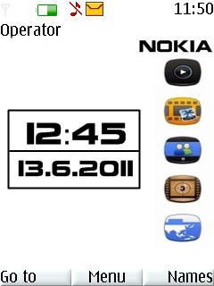 Nokia White Mobile Theme