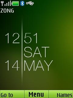 Blink Green Clock Mobile Theme