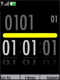 Black Yellow Mobile Theme