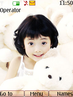 Cute Girl Mobile Theme