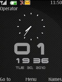 Dual Clock Mobile Theme